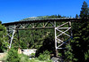 Route 70 and Rock Creek's confluence with the Feather River, looking down from behind the trestle and a ways up the hillside.