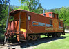 Alternative view of the Dunsmuir town caboose.