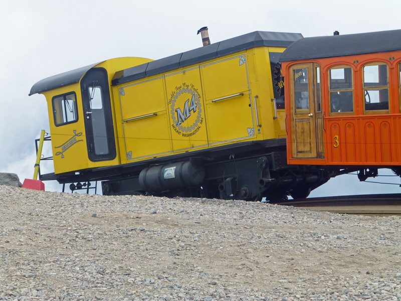 Mt Washington Cog Railway at the Summit with Biodiesel M4