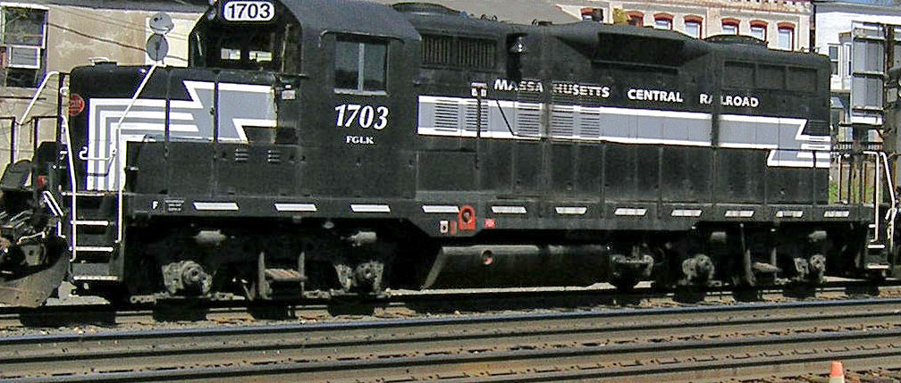 Massachusetts Central EMD Diesel painted in New York Central Colors