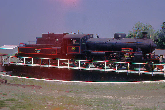 Belfast and Moosehead Lake RR in Maine - Swedish steam engine on turntable - Another fascinating shortline that was defeated by financial problems.