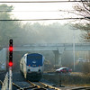 Brunswick, Maine - The Downeaster laying over - Shot from the handicapped platform at Brunswick station - 11/12/2012