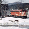 CP RAIL 1974 VEMONT Bridge in Background