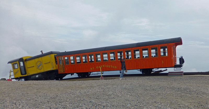 Mt Washington Cog Railway at the Summit