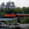 Bangor and Aroostook fan trip featured a caboose at the end of the passenger train.