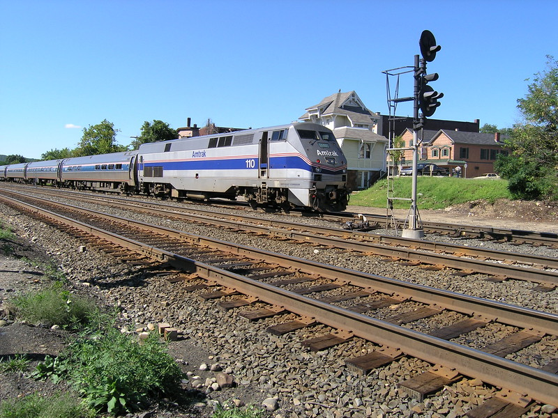 Palmer, MA - Amtrak Engine number 110 on the Vermonter