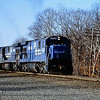 Conrail Engine 6560 Leads a Freight on the former Boston and Albany RR