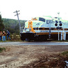 Bangor and Aroostook RR  Fan Trip in 1980 - Railfans at Crossing