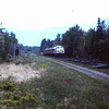 Bangor and Aroostook RR  Fan Trip - Engine in Forest in 1980