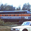 Bangor and Aroostook Engine Number 42 in 1980