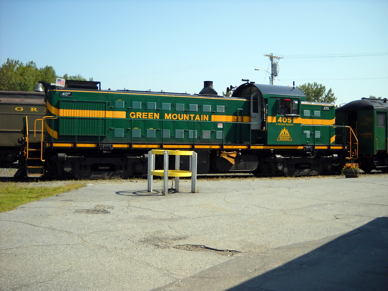 White River Junction, Vermont - Alco RS 1 of the Green Mountain RR - Engine is waiting for its next tourist train run on the former Boston and Maine RR Passumpsic line.