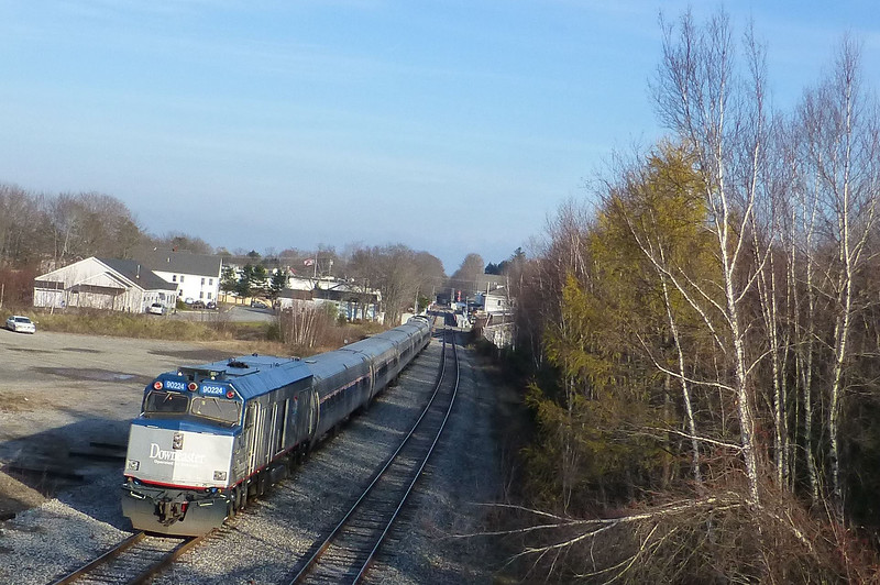 Brunswick, Maine - Downeaster Laying Over