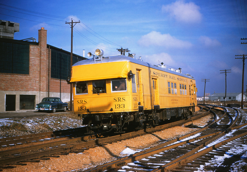 MSCL 26 - Jan 30 1955 - Sperry Rail Service Car 122 on Mopad  St Louis MO