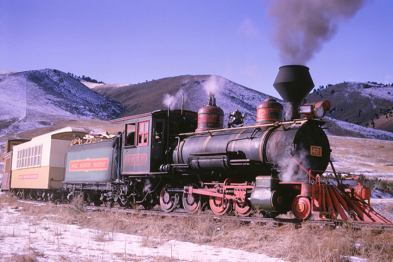 Magic Mountain 88 - Jan 24 1966 - ex RGS No 42 during filming of 'Stagecoach to Seven'