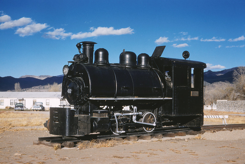 MSCL 100 - Nov 9 1958 - Koppers Co Engine No 40 0 4 0 2 guage - Salida Museum