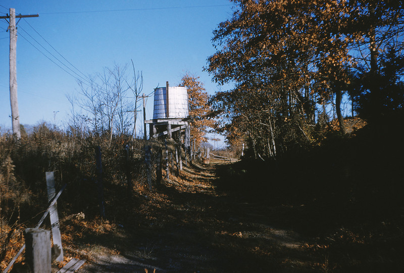 MSCL 22 - Dec 25 1954 - water tank of abandoned 3' ga  RR at Clay Co  between Huntington & McKenzie TENN