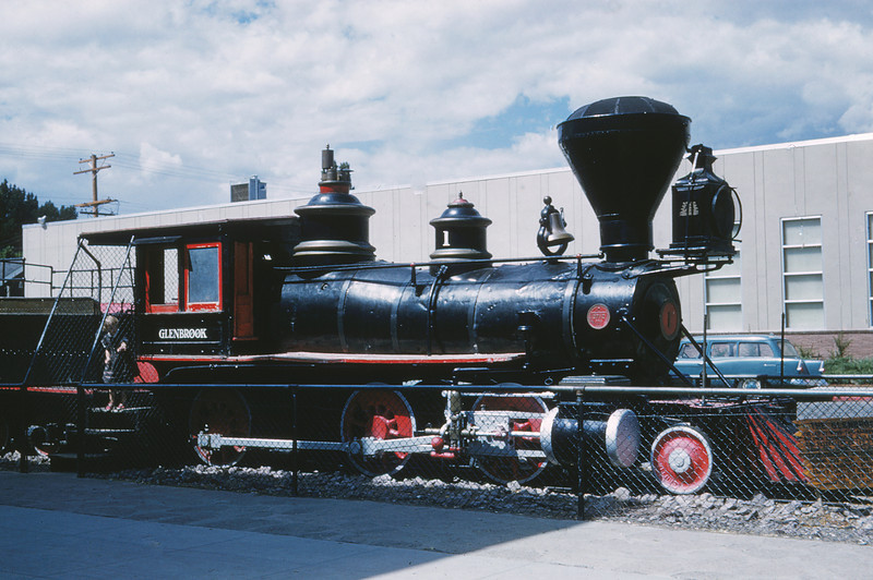 MSCL 133 - Aug 30 1961 - 2 6 0 'Glenbrook' 3 foot gauge engine in front of mint @ Carson City NV