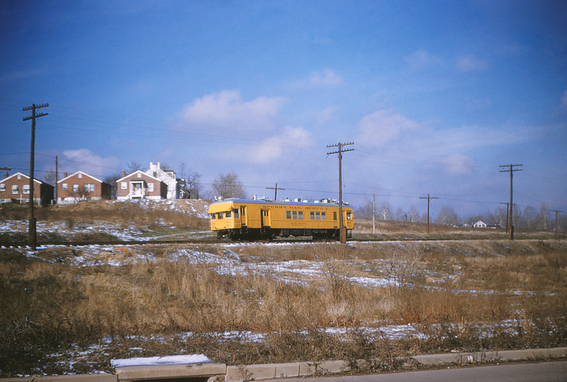 MSCL 27 - Jan 20 1955 - Sperry Rail Service car 133 on MOPAC between Gustine & Meremec MO