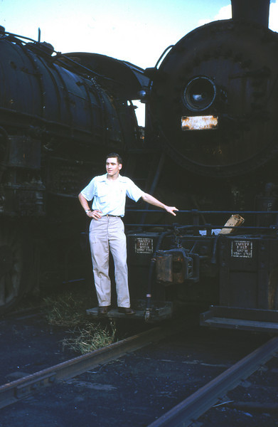 L&N 14 - Sep 19 1954 - Jim Ozment on 2 8 2 East St Louis yard ILL