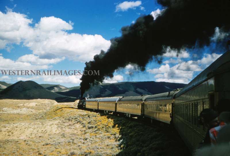 LNPW 66 - UP 2-8-0 No 535 on RMRRC excursion - Kings Canyon COLO