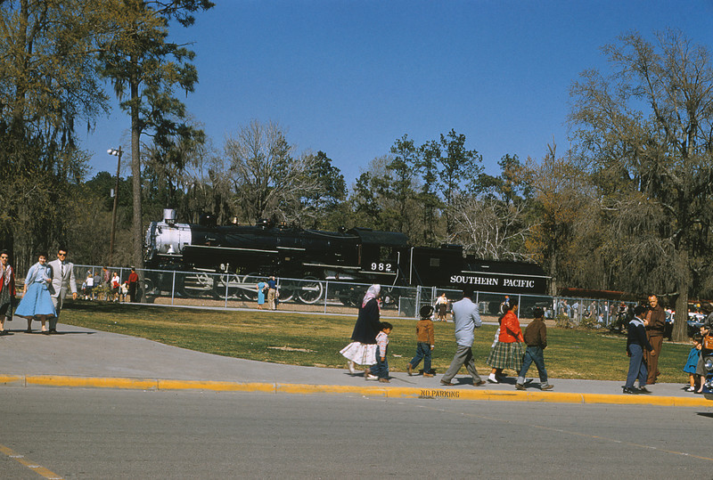 MSCL 86 - March 1958 - Southern Pacific 2 8 2 No 982 at Sam Houston Park - Houston TX