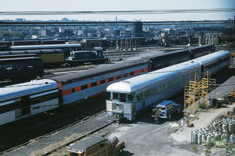 MSCL 72 - Sep 24 1956 - Busch's Private Car 'Adolphus' in Jefferson Ave  coach yard St Louis MO