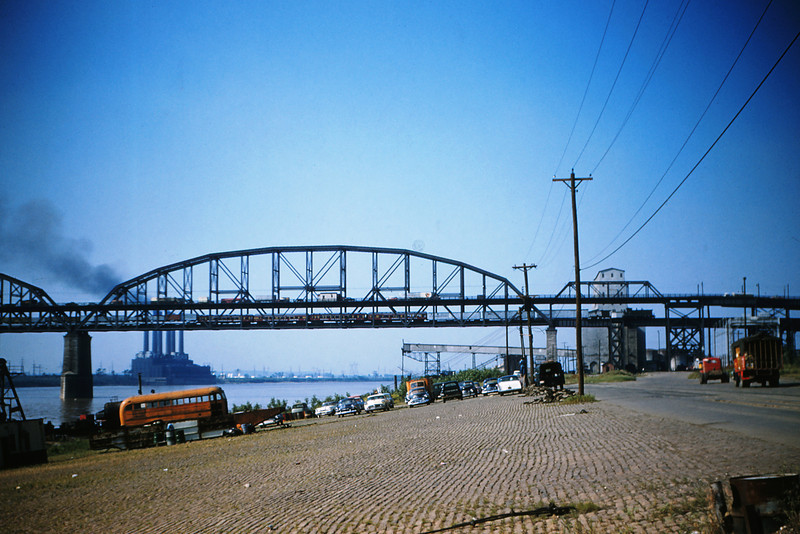 MSCL Royal American Shows Circus Train on Macarthur bridge 6-4-1956