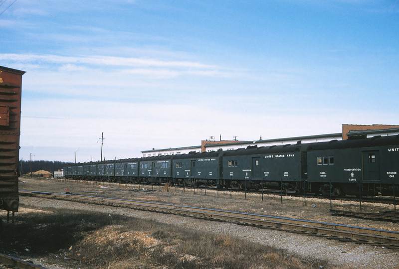 MSCL 83 - Feb 9 1958 - transportation corps cars at Ft Leonard Wood MO