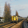 Bournemouth based 4TC set 8019 speeds through West Byfleet