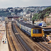 Derby Lightweight class 108 2 car set B964 leads a Paignton - Exeter service away from Dawlish