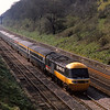HST led by 253039 gets barely a glance from the work gang on the sunny side of the track in Sonning cutting
