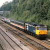 47431 hauls a mixed rake of stock through Sonning<br /> <br /> Withdrawn in 1994 it lingered at OOC until scrapping in 1997