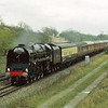 71000 Duke of Gloucester heads north near Fenny Compton with 'The South Yorkshireman' from Marylebone - Sheffield<br /> <br /> 1992