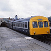 Tyseley set TS406 Class 101 DMU waits to depart from Aberystwyth for Birmingham New Street<br /> <br /> Circa 1982
