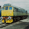 Class 25 D7672 Tamworth Castle (formerly 25322)<br /> <br /> Horton Road depot,Gloucester