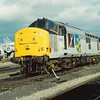 Class 37,  37906  basks in the sunshine during the Gloucester Horton Road Open Day<br /> Originally built at English Electric Vulcan Foundry it entered service as D6906 allocated to Landore (87E)<br /> <br />  1 July 1990.