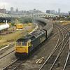 47422 passes Gateshead diesel depot as it starts it return trip south<br /> <br /> Circa 1983