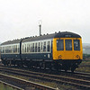 Derby lightweight DMU 53355 leaves Workington with a Carlisle bound service<br /> <br /> Circa 1983