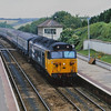 Large logo 50049 Defiance draws to a halt at Liskeard with a service for Plymouth.