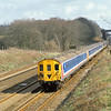 2HAP  4313 heads a 10 car formation down the Slow at Potbridge.