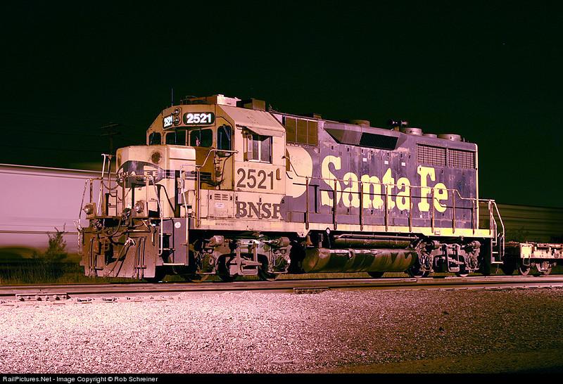 Ex-Santa Fe GP35 sits in Eola yard in Aurora, IL.