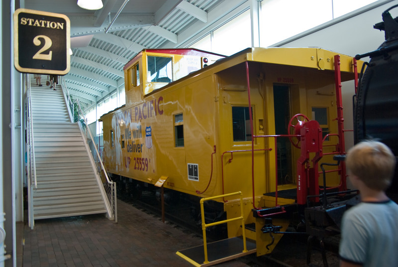 This is about the only place you'll see a caboose these days.  They have been considered obsolete by the railroads for at least a couple of decades.  They have been replaced by electronic monitoring equipment.