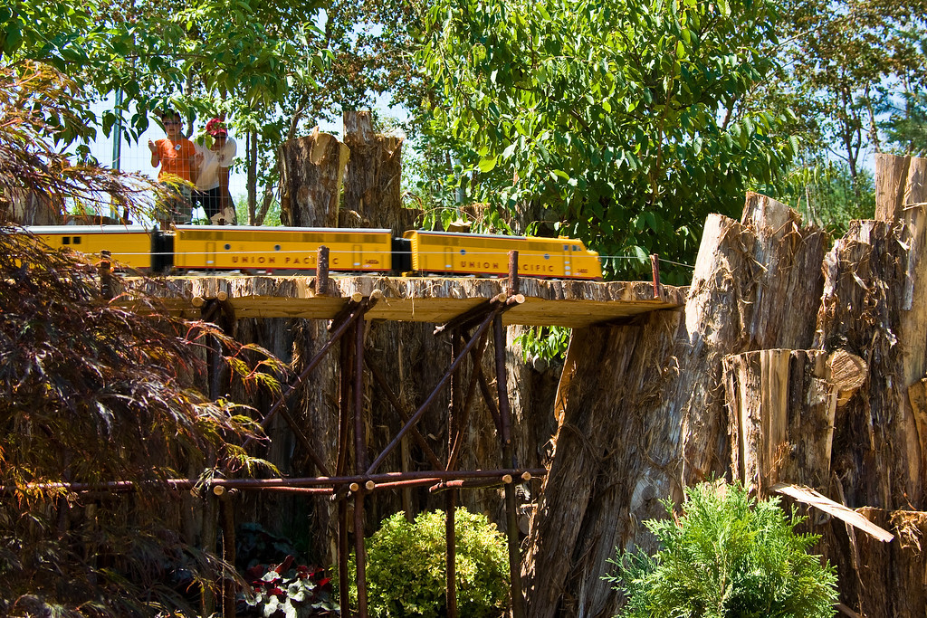 All of the bridges, trestles and other scenery are made from natural material.