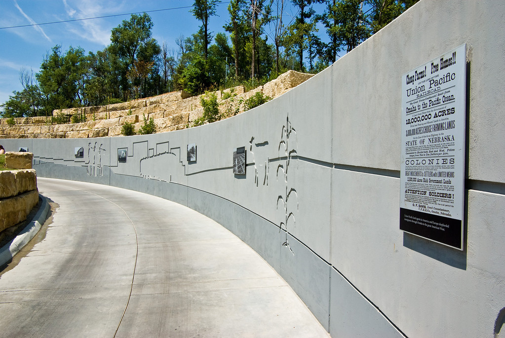 You can read Information on the history and current operations of the Union Pacific as you walk up the ramp.