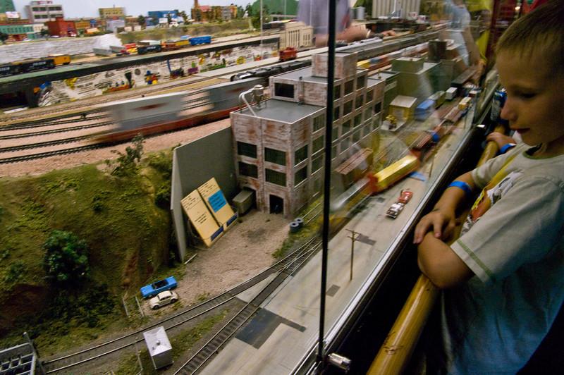 The model railroad at Rails West.