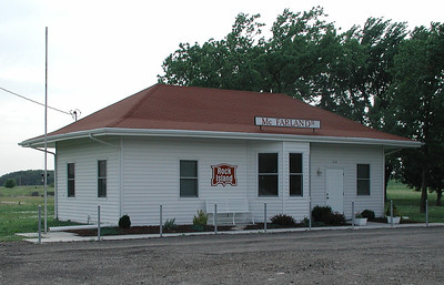 Rock Island depot in McFarland - Wabaunsee County Kansas