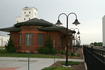 Garden City, Kansas. Amtrak station.