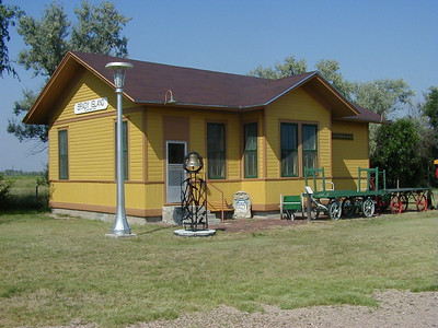 Lincoln County Museum. North Platte, Nebraska. Union Pacific railroad depot.