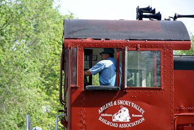 Abilene & Smoky Valley Railroad running between Abilene and Enterprise, KS