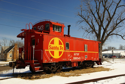 Santa Fe caboose on the Belton, Grandview & Kansas City Railroad in Belton, MO.